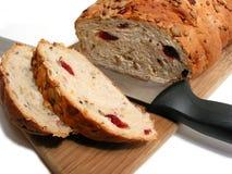 Brot und Messer Lizenzfreie Stockbilder