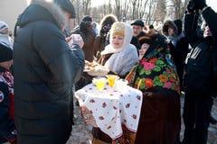 Brot-und-Salz Willkommen Lizenzfreie Stockfotografie