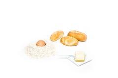Brot und seine Bestandteile lizenzfreies stockbild