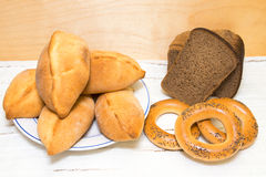 Brot und traditionelles Gebäck Stockbild