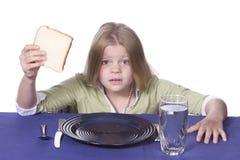Brot-und Wasser-Abendessen Lizenzfreie Stockbilder