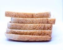 Brot und weißer Hintergrund stockbild
