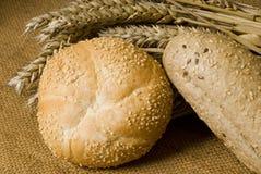 Brot und Weizen Stockbild