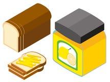 Brot- und Zitronenstau stock abbildung