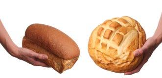 Brotabgabe Stockbild