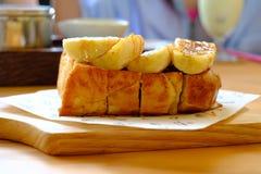 Brotbelag mit Bananenkaramel lizenzfreie stockbilder