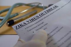 Brote de virus de Zika Imagen de archivo libre de regalías