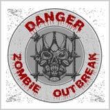 Brote del zombi del cartel ilustración del vector
