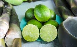 Brotes del limón y de bambú Imágenes de archivo libres de regalías