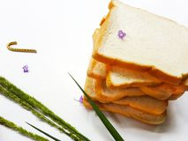 Brotfrühstück am Morgen lizenzfreies stockfoto