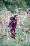 Brotger y hermana de Gorkha, Nepal Fotos de archivo libres de regalías
