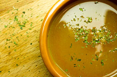 Broth, bouillon, clear soup Royalty Free Stock Photos