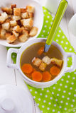 Broth in bowl Royalty Free Stock Image