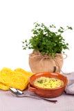 Broth With Capellini Pasta Stock Photos
