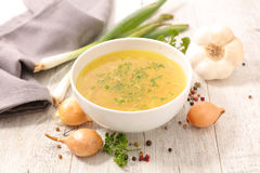 Broth with ingredient Royalty Free Stock Photography