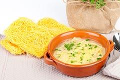 Broth With Pasta Royalty Free Stock Photos