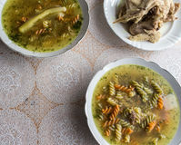 Broth, Polish cuisine. Royalty Free Stock Photo
