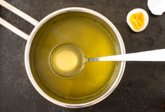Broth in a saucepan Royalty Free Stock Image