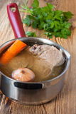 Broth with vegetables Royalty Free Stock Image
