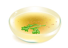 Broth on white background Royalty Free Stock Images
