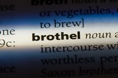 Brothel. Word in a dictionary.  concept Royalty Free Stock Image