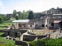 Brothels at Pompei. Brothels near Entrance from Harbor leading up to City of Pompei Royalty Free Stock Photos