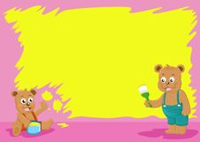 Brother bear paint wall Royalty Free Stock Photos