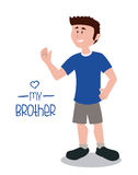Brother design Royalty Free Stock Images