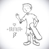Brother design Stock Photo