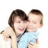 Brother feliz y hermana Fotos de archivo libres de regalías