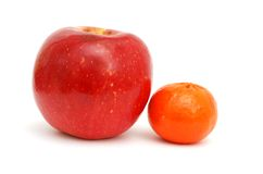 The 'brother' fruits. Idea of decorative summer health fruits Stock Photos