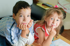 Brother and his sister Royalty Free Stock Photo