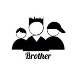 Brother icons. On white background Stock Photography