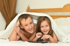 Brother and little sister Royalty Free Stock Photography