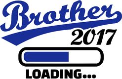 Brother 2017 is loading.  Royalty Free Stock Photography