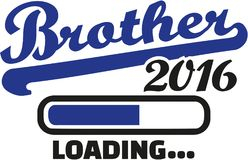Brother 2016 loading bar. Vector Royalty Free Stock Images