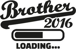 Brother 2016 loading. Pregnant vector Royalty Free Stock Images