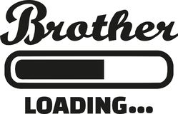 Brother loading vector. Brother loading bar family vector Stock Photography