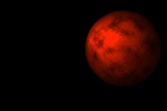 The brother of Mars. Unknown planet very similar to Mars on a black background Royalty Free Stock Photography