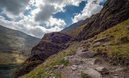 Brother OSheas route. Brother O'Shea's Gully route up to the highest peak in Ireland, the Carrauntoohil Stock Photography