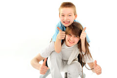 Brother and sisier Royalty Free Stock Image