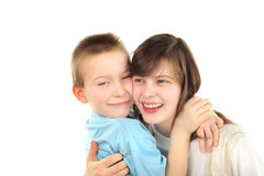 Brother and sisier Stock Image