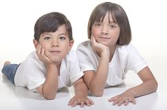 Brother and sister. Royalty Free Stock Photo