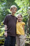 Brother and sister Stock Images