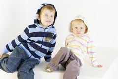 Brother with sister Royalty Free Stock Photos