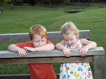 Brother and Sister. Sibling Times Together Royalty Free Stock Image