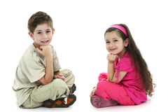 The brother and the sister Royalty Free Stock Photography