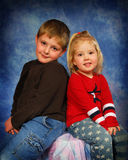 Brother and Sister. Portrait of a young brother and sister Stock Photos