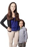 Brother and sister or babysitter with boy Royalty Free Stock Photo