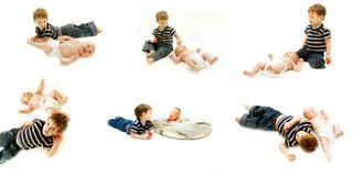 Brother and sister collection Royalty Free Stock Photo